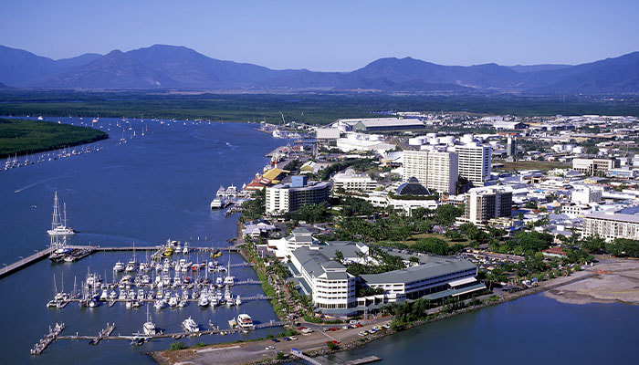 City of Cairns aerial view as GKL Group celebrate being appointed Cairns City Council pre-qualified consultants
